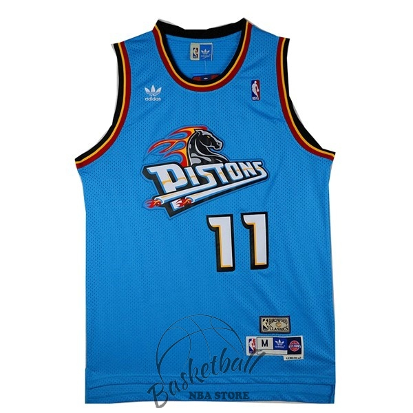 Choisir Maillot NBA Detroit Pistons NO.11 Isiah Thomas Retro Vert
