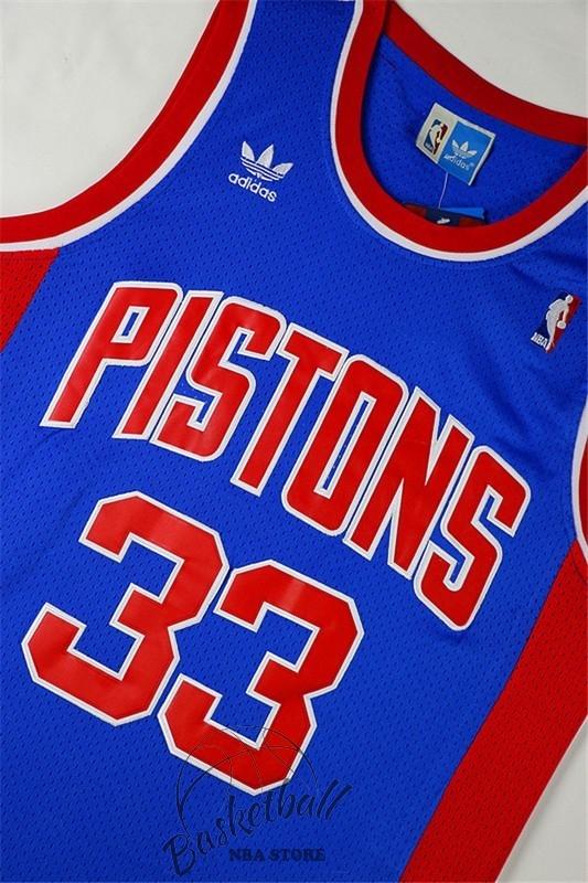 65cfd42c67c29 Choisir Maillot NBA Detroit Pistons NO.33 Grant Hill Retro Bleu Pas ...
