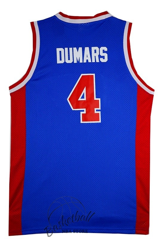 Choisir Maillot NBA Detroit Pistons NO.4 Joe Dumars Retro Bleu