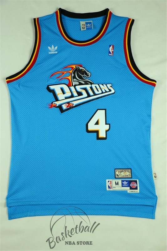 Choisir Maillot NBA Detroit Pistons NO.4 Joe Dumars Retro Vert