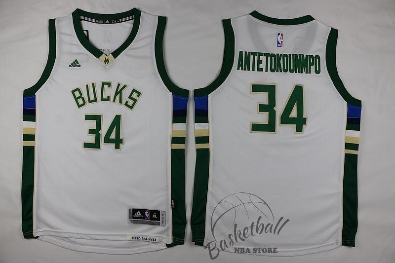f620315e59af0 Choisir Maillot NBA Enfant Milwaukee Bucks NO.34 Giannis Antetokounmpo Blanc