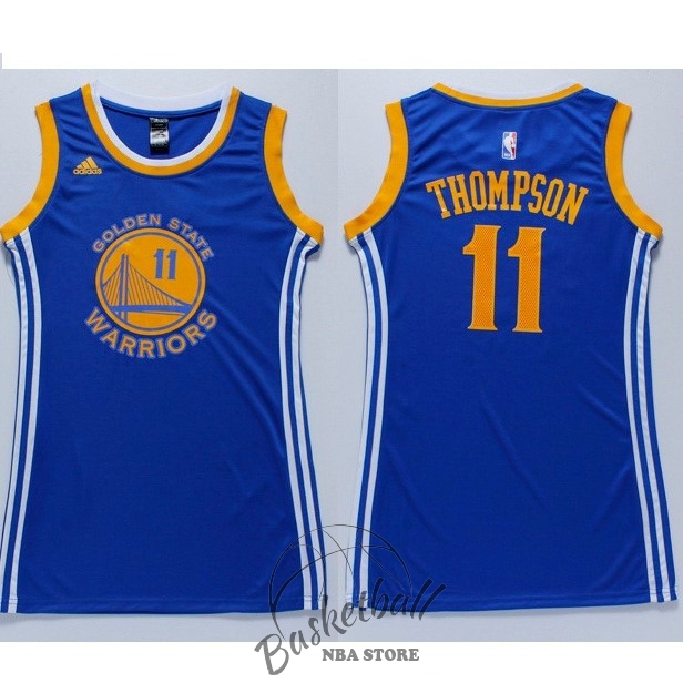 Choisir Maillot NBA Femme Golden State Warriors NO.11 Klay Thompson Bleu
