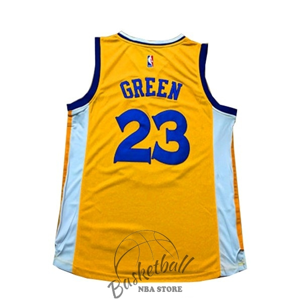 Choisir Maillot NBA Femme Golden State Warriors NO.23 Draymond Green Jaune