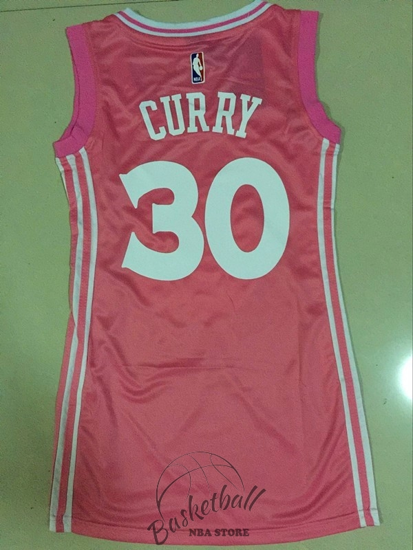 Choisir Maillot NBA Femme Golden State Warriors NO.30 Stephen Curry Rose