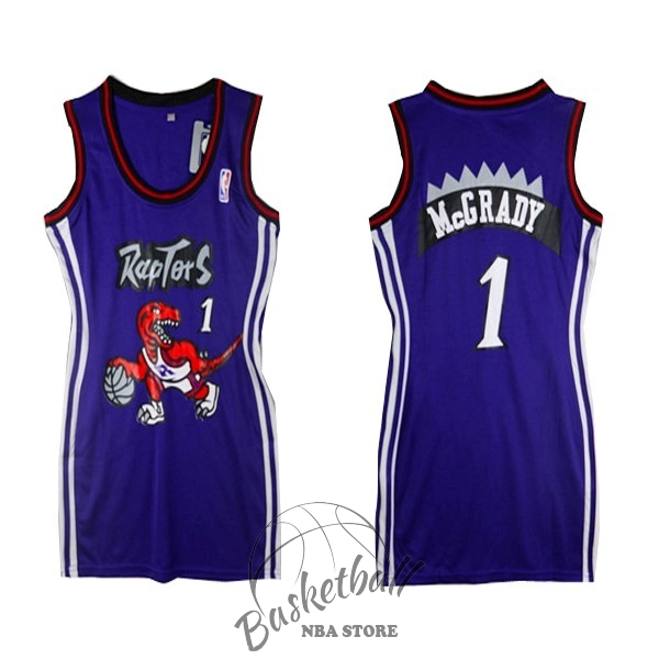 Choisir Maillot NBA Femme Toronto Raptors NO.1 Tracy McGrady Pourpre
