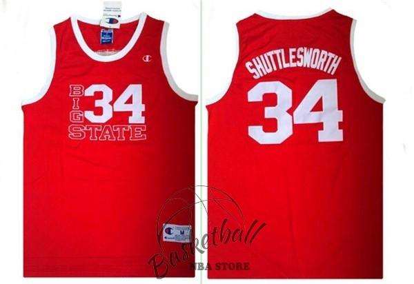 58fe743e50b90 Choisir Maillot NBA Film Basket-Ball Big State NO.34 Shuttlesworth Rouge