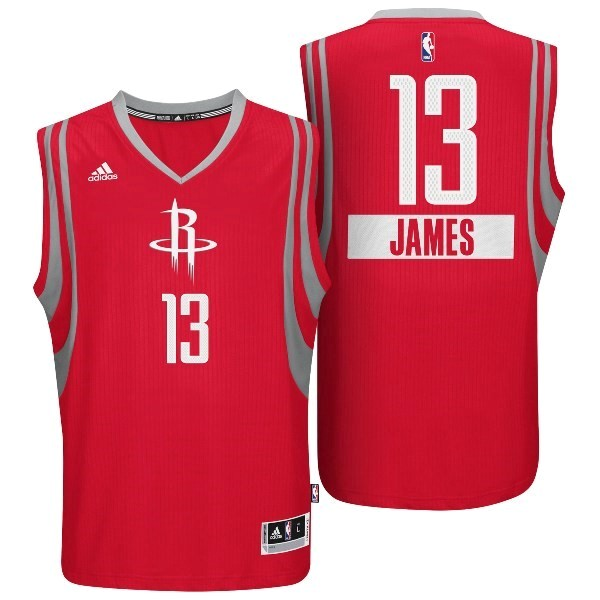 Choisir Maillot NBA Golden State 2014 Noël NO.13 James Rouge