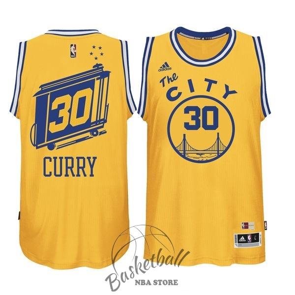 73404ff0bdbfd Choisir Maillot NBA Golden State Warriors NO.30 Stephen Curry Jaune ...
