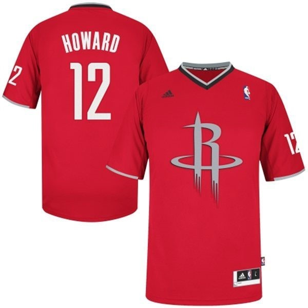 Choisir Maillot NBA Houston Rockets 2013 Noël NO.12 Howard Rouge