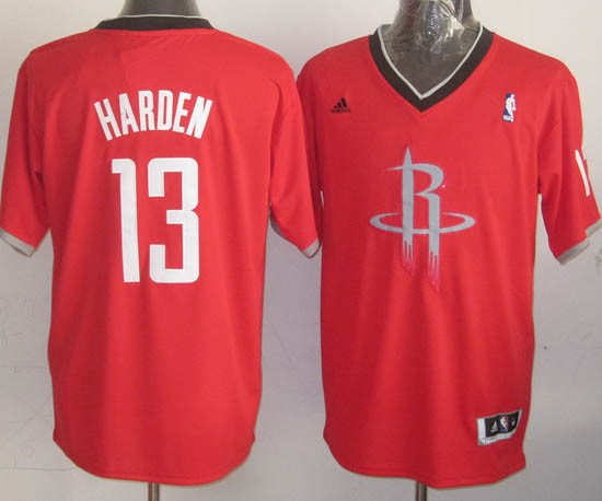 Choisir Maillot NBA Houston Rockets 2013 Noël NO.13 Harden Rouge