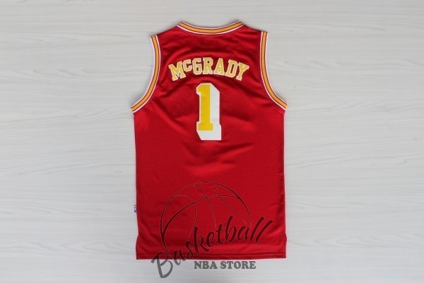 Choisir Maillot NBA Houston Rockets NO.1 Tracy McGrady Retro Rouge Or