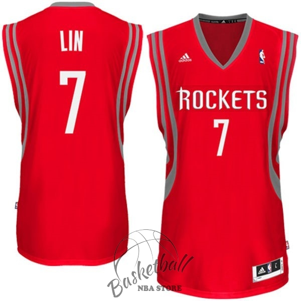Choisir Maillot NBA Houston Rockets NO.7 Jeremy Lin Rouge