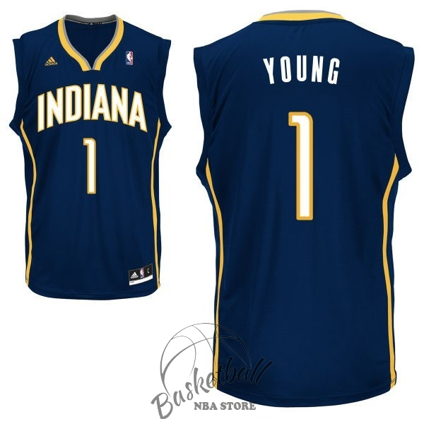 Choisir Maillot NBA Indiana Pacers NO.1 Lance Stephenson Noir