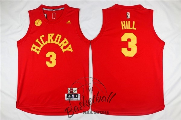Choisir Maillot NBA Indiana Pacers NO.3 George Hill Rouge