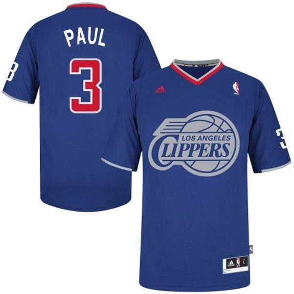 Choisir Maillot NBA Los Angeles Clippers 2013 Noël NO.3 Paul Bleu
