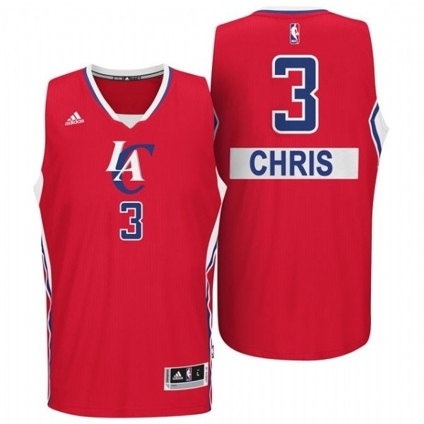 Choisir Maillot NBA Los Angeles Clippers 2014 Noël NO.3 Chris Rouge