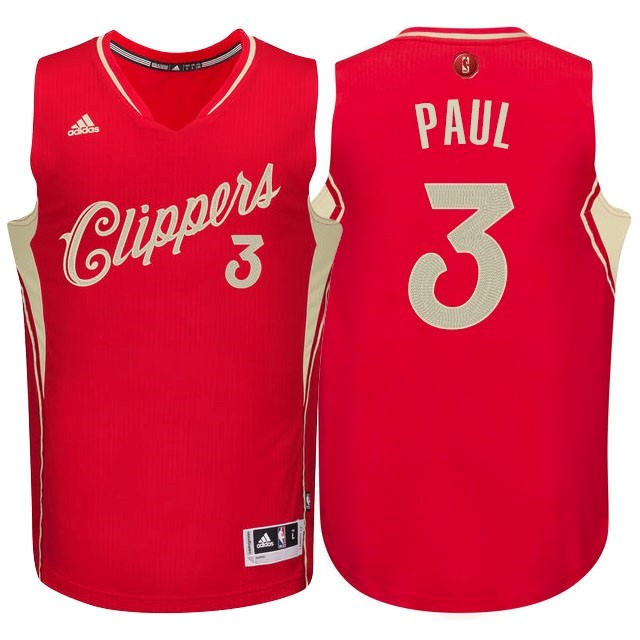 Choisir Maillot NBA Los Angeles Clippers 2015 Noël NO.3 Paul Rouge