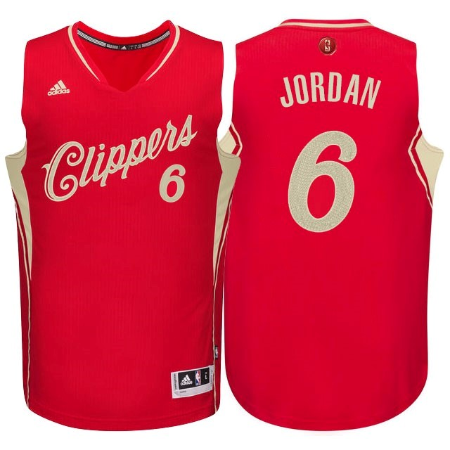 Choisir Maillot NBA Los Angeles Clippers 2015 Noël NO.6 Jordan Rouge