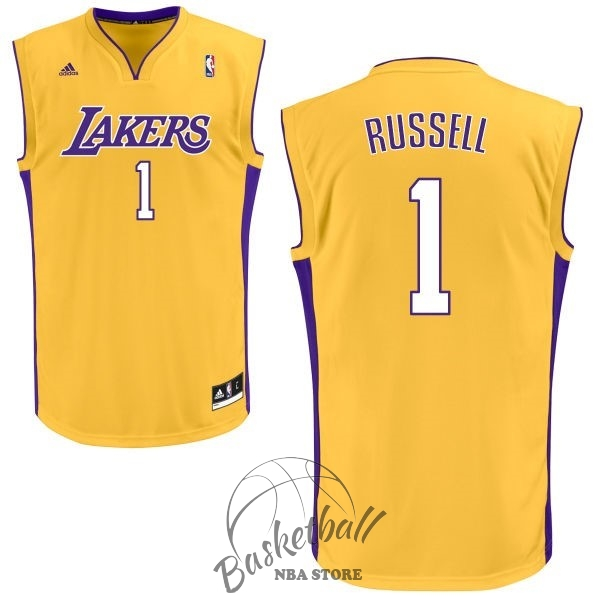Choisir Maillot NBA Los Angeles Lakers NO.1 D'Angelo Russell Jaune