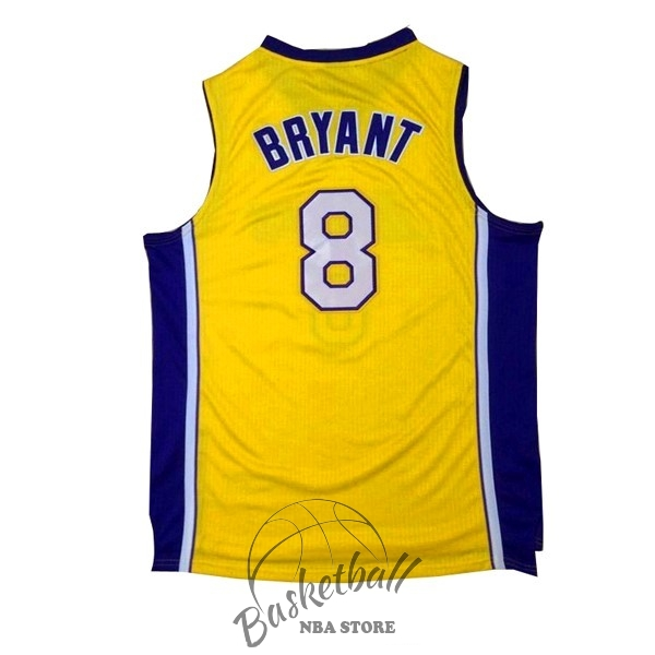 Choisir Maillot NBA Los Angeles Lakers NO.8 Kobe Bryant Jaune Pourpre