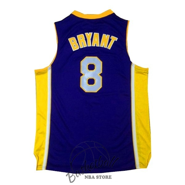Choisir Maillot NBA Los Angeles Lakers NO.8 Kobe Bryant Pourpre Jaune