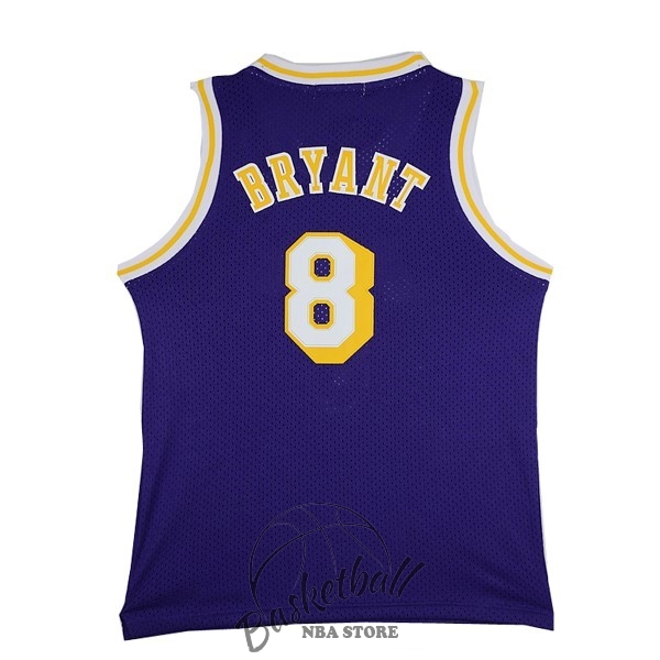 Choisir Maillot NBA Los Angeles Lakers NO.8 Kobe Bryant Pourpre