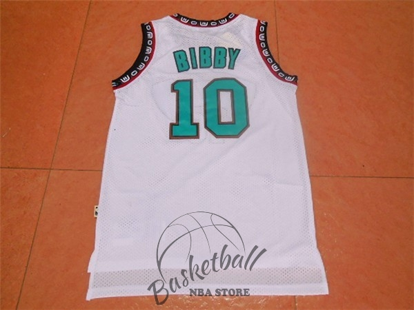 Choisir Maillot NBA Memphis Grizzlies NO.10 Mike Bibby Blanc