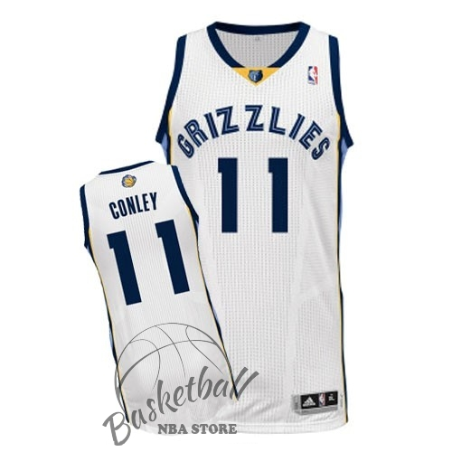 Choisir Maillot NBA Memphis Grizzlies NO.11 Mike Conley Blanc