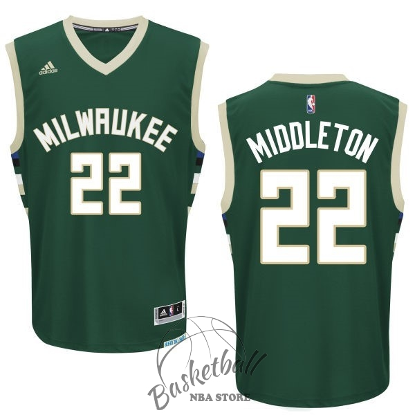 Choisir Maillot NBA Milwaukee Bucks NO.22 Khris Middleton Vert