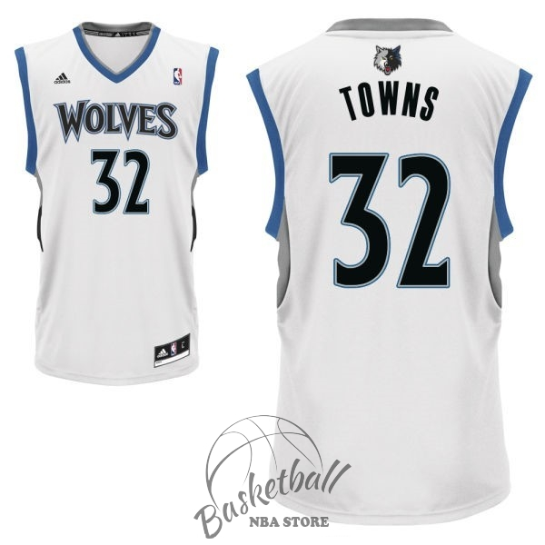 Choisir Maillot NBA Minnesota Timberwolves NO.32 Karl Anthony Towns Blanc