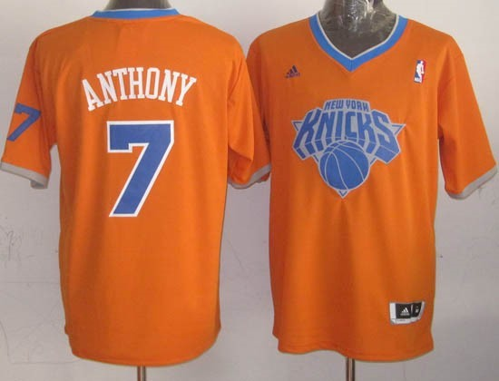 Choisir Maillot NBA New York Knicks 2013 Noël NO.7 Anthony Orange