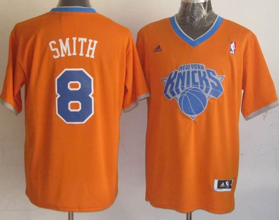 Choisir Maillot NBA New York Knicks 2013 Noël NO.8 Smith Orange