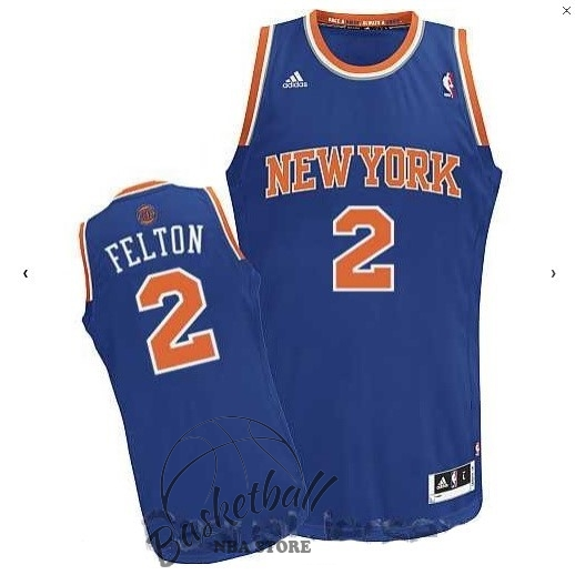 Choisir Maillot NBA New York Knicks NO.2 Raymond Felton Bleu