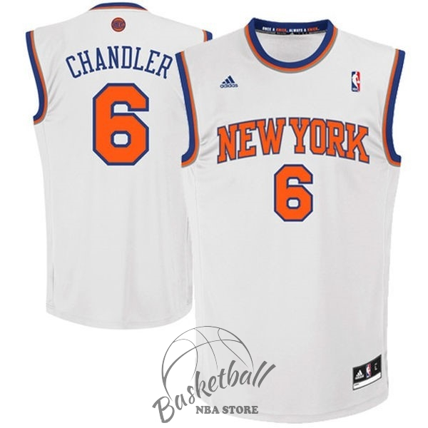 Choisir Maillot NBA New York Knicks NO.6 Kristaps Porzingis Blanc