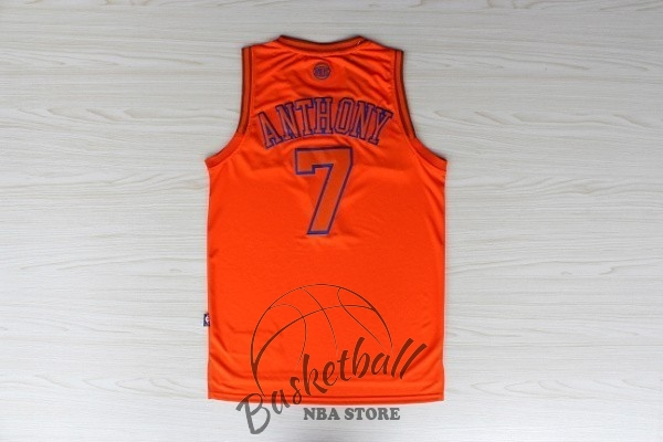 Choisir Maillot NBA New York Knicks NO.7 Carmelo Anthony Orange
