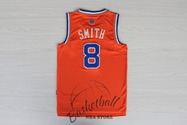 Choisir Maillot NBA New York Knicks NO.8 JR.Smith Orange Bleu