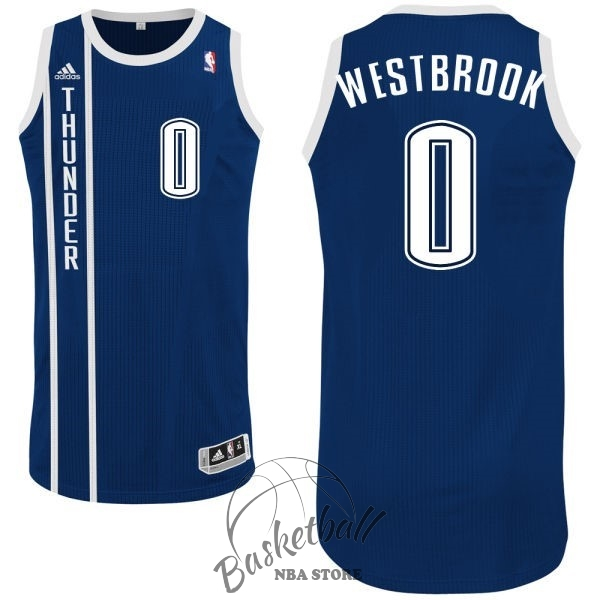 Choisir Maillot NBA Oklahoma City Thunder NO.0 Russell Westbrook Retro Bleu