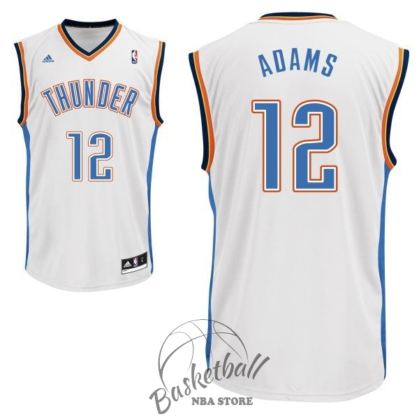 Choisir Maillot NBA Oklahoma City Thunder NO.12 Steven Adams Blanc