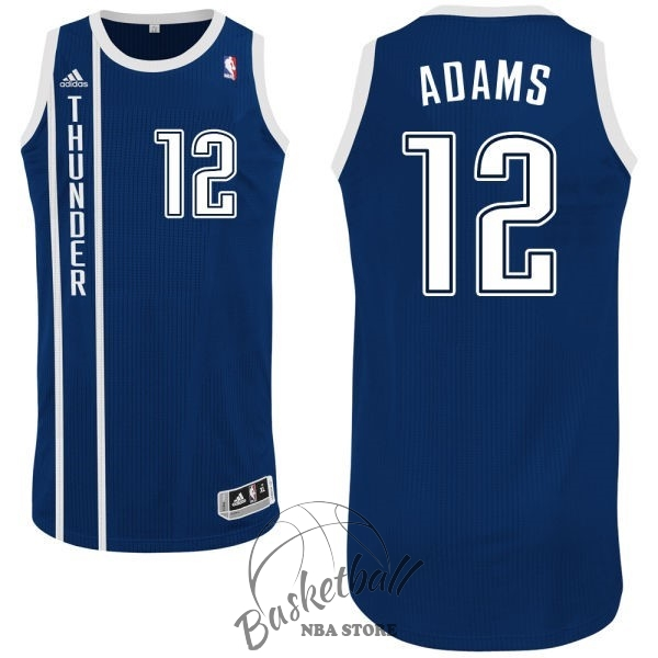 Choisir Maillot NBA Oklahoma City Thunder NO.12 Steven Adams Retro Bleu
