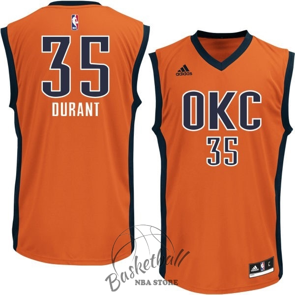 Choisir Maillot NBA Oklahoma City Thunder NO.35 Kevin Durant Orange