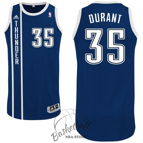 Choisir Maillot NBA Oklahoma City Thunder NO.35 Kevin Durant Retro Bleu