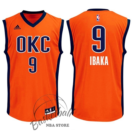 Choisir Maillot NBA Oklahoma City Thunder NO.9 Serge Ibaka Orange