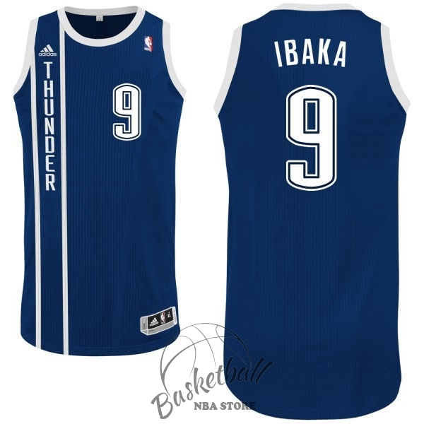Choisir Maillot NBA Oklahoma City Thunder NO.9 Serge Ibaka Retro Bleu