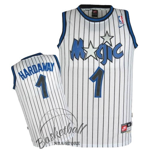 Choisir Maillot NBA Orlando Magic NO.1 Anfernee Hardaway Blanc