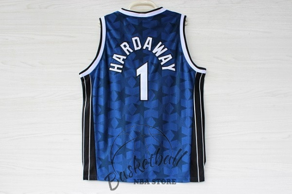 Choisir Maillot NBA Orlando Magic NO.1 Anfernee Hardaway Bleu Sombre