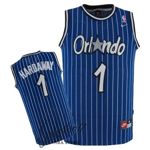 Choisir Maillot NBA Orlando Magic NO.1 Anfernee Hardaway Bleu