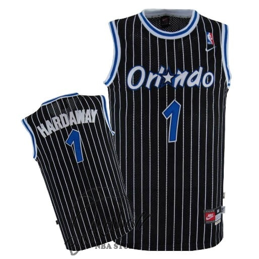 Choisir Maillot NBA Orlando Magic NO.1 Anfernee Hardaway Noir
