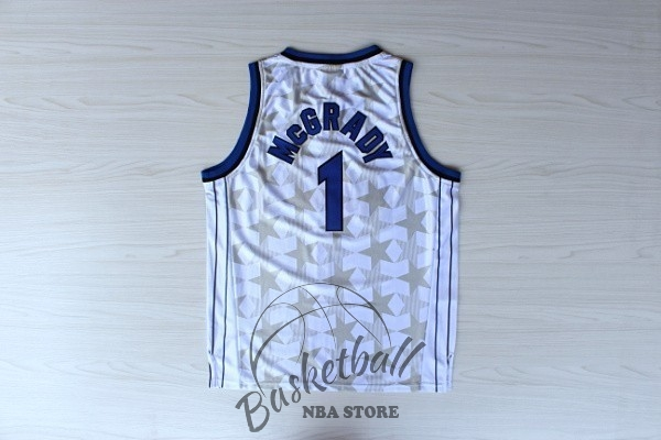 Choisir Maillot NBA Orlando Magic NO.1 Tracy McGrady Blanc Sombre