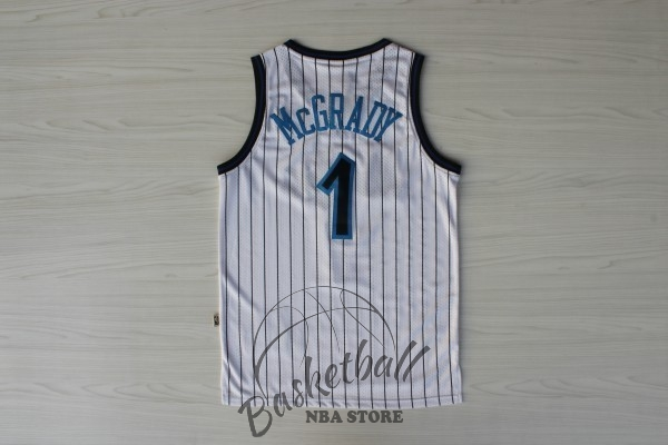 Choisir Maillot NBA Orlando Magic NO.1 Tracy McGrady Blanc