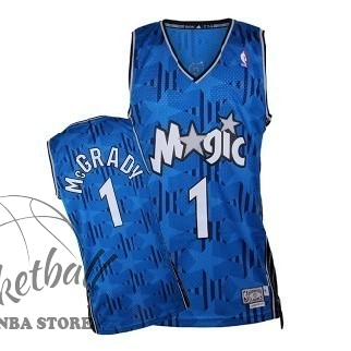 Choisir Maillot NBA Orlando Magic NO.1 Tracy McGrady Bleu Sombre
